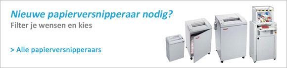 Papierversnipperaar-Banner Home - Keuzehulp