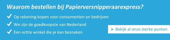 Papierversnipperaar-Banner Home - USPs
